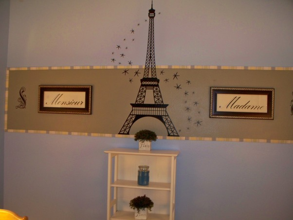 A French Sewing Room, This is my creative room, for crafts, sewing and writing manuscripts. , An Eiffel Tower to take my room to the top!, Home Offices Design