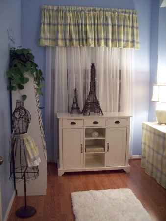 A French Sewing Room, This is my creative room, for crafts, sewing and writing manuscripts. , This is entry into my sewing/craft room.  , Home Offices Design