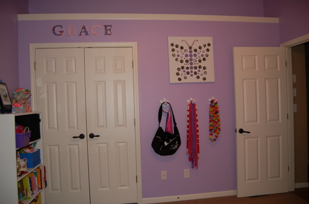 A big girl room for my 6 year old, This purple, black, and white themed room was a surprise birthday present for my 6 year old daughter.  I used LOTS of ideas from many different rooms on Rate My Space.  Thank you to everyone for your wonderful ideas! My daughter loved it!,  , Girls' Rooms Design