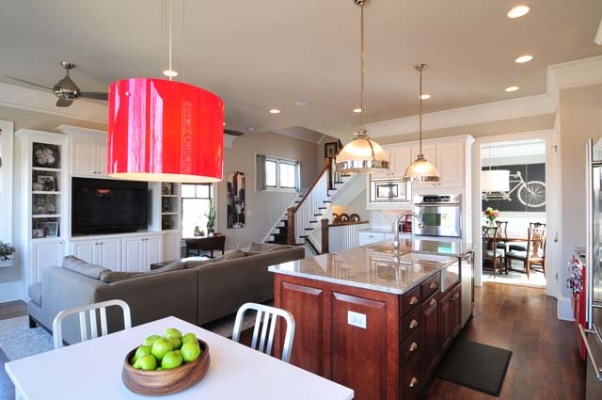 Kitchen & Living Room, Open kitchen and living room., Kitchens Design