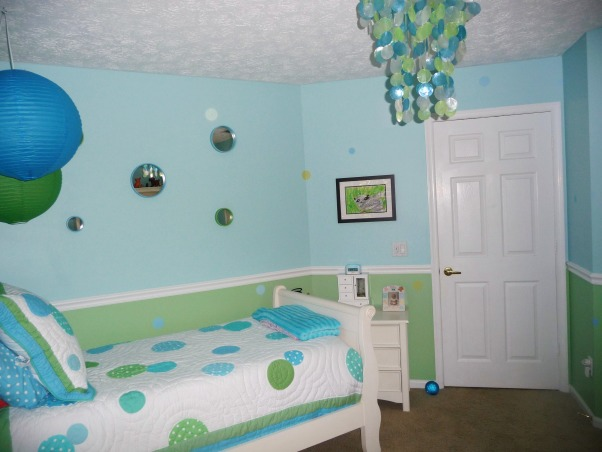 9 Year Old Daughter's New Tween Bedroom, We remodeled our daughter's bedroom for her 9th birthday.  She is stepping out of the butterflies and flowers stage into a fun almost tween girl!  The new plantation shutters really clean up the room and give more space., Girls' Rooms Design