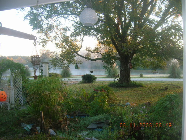 1880's farmhouse & gardens..., 4th of July, view from  front porch      , Gardens Design