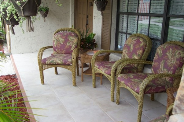 I tiled my front porch!, This is my front porch that I tiled., Another View, Porches Design