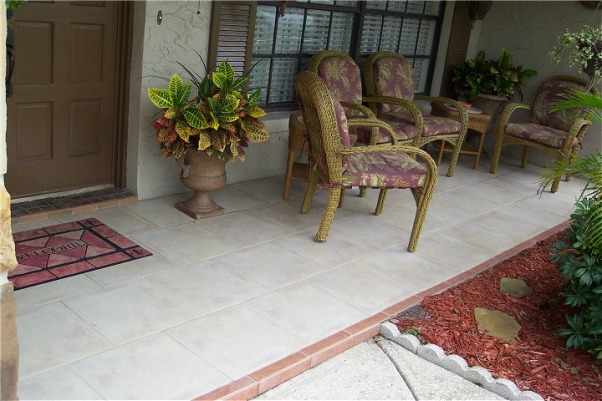 I tiled my front porch!, This is my front porch that I tiled., This is my front porch that I tiled., Porches Design