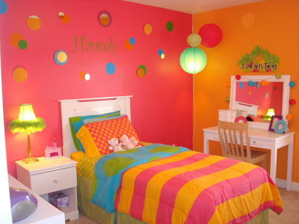 Bright & Colorful 4 year old's room, I wanted my 4 1/2 yr old daughter's room to fit her personality and I believe I accomplished that with this bright, cheery room! :), Lights On! , Girls' Rooms Design