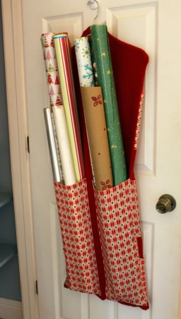 "Gift Wrap Closet, I turned this disorganized closet into ""gift wrap central"".  Replaced the wire shelf with MDF boards, primed, caulked, and painted.  , Closets & Utility"