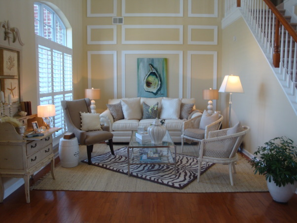 living room retreat, Fun, warm, old & new with a beachy touch, soft tones of cream with a mix of different textures and elements, Living Rooms Design