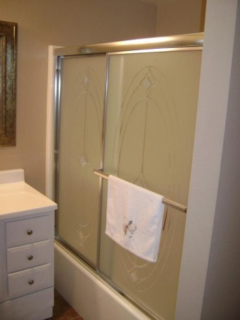 Low budget bathroom remodel, Moved into a foreclosure with a small budget for renovations. We did our best with what we could and even though my space is a little plain I still like it :), Bathrooms Design