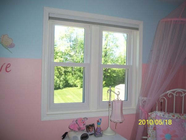 My 6 year olds inspirational bedroom , Any suggestions for window treatments?  With the canopy I am not sure what to do.  There are room darkening shades on the window.   , Girls' Rooms Design