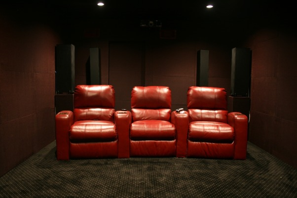 Basement media room, Seating, Media Rooms Design