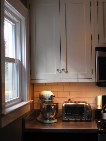 Colonial Kitchen Renovation Update, We FINALLY finished all the mouldings in our not-quite-new-anymore kitchen! It took a while, but my husband built them all himself. Still haven't decided on window treatments..., Kitchens Design