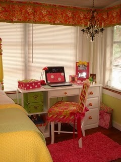 College Dorm Apartment- Bright Custom Look, Small Sunroom college dorm  house extension becomes dazzling sunlight retreat., Slipcovered dorm chair, handpainted drawer knobs, crystal chandelier   , Dorm Rooms Design
