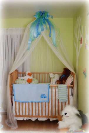 Grandkids room, We are having our 2nd grandchild, so I wanted to make a bedroom for sleep overs.  I wanted the space to be kid friendly, and make them feel special., Crib for our new grandson , Nurseries Design