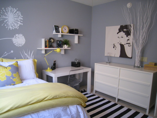 Kim's bedroom, My daughter is moving into a rental house with 2 friends while attending College. Here are a few photos of her bedroom. Still have a few more personal touches to add as well as install the new window treatment.   , Bedrooms Design