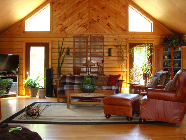 Information about rate my space questions for for Log home living room ideas
