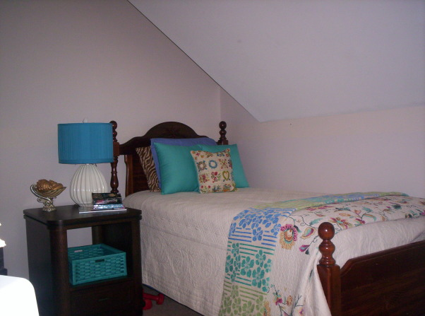 small upstairs bedroom, These are pictures of my small upstairs bedroom with the slanted ceiling., Bedrooms Design