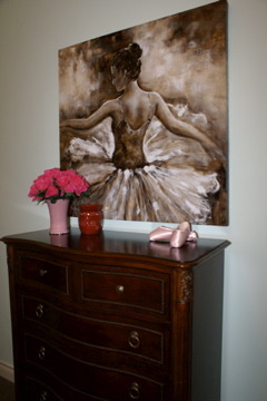 Katie's Ballet room, Fun ballet room that can grow with my child.  Katie wanted a ballet room including a ballet bar.  Now she has a room that will last her for for years to come., Girls' Rooms Design