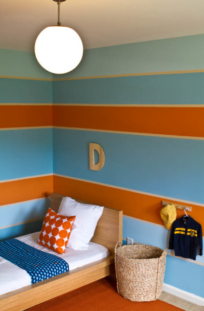 Nautical Inspired Boys Room, From watching movies Finding Nemo, Shark Tales, and The Reef to chatting about sand and surf in the days leading up to their first beach vacation, the kids have been infatuated with all things ocean related. , Boys' Rooms Design