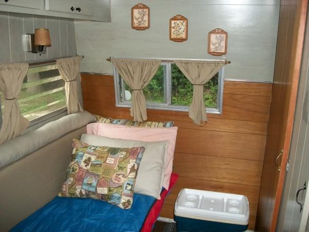 remodeled vintage camper, Trashed camper remodeled on a budget, interior redone and decorated  , Other Spaces Design