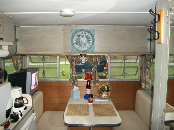 remodeled vintage camper, Trashed camper remodeled on a budget, reuphostered everything and decorated  , Other Spaces Design