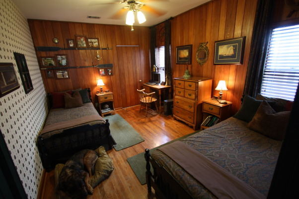 Older Boys Bedroom , Bed room for older son in a 1934 Cape Cod. Wood walls and floors original to house.  Worked in a nautical theme. , Boys Room Nautical theme for a maturing lad.    , Boys' Rooms Design