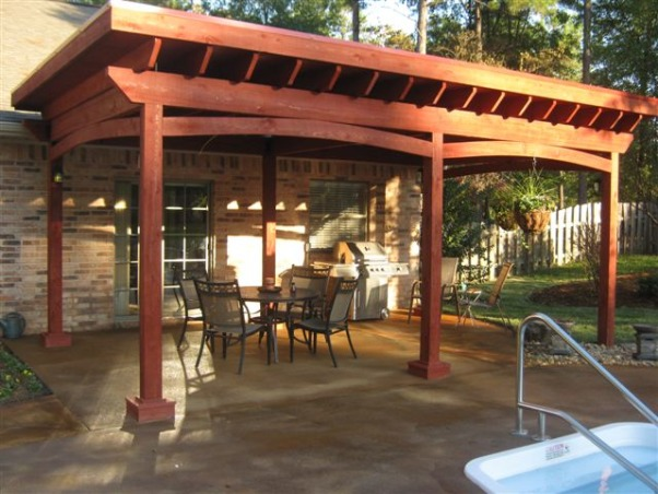 Backyard Makeover, The backyard was fenced in with a pool but needed a design.  we did a complete makeover with a pergola over the original patio. , Pergola    , Yards Design