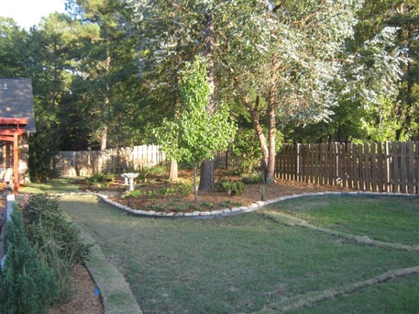 Backyard Makeover, The backyard was fenced in with a pool but needed a design.  we did a complete makeover with a pergola over the original patio. , After    , Yards Design