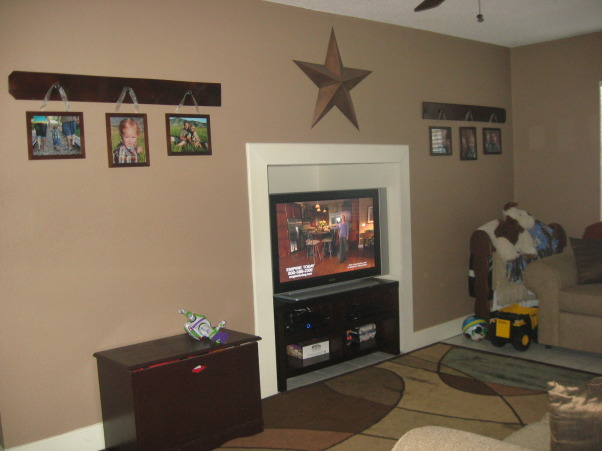 Cozy TV Room, A converted garage room with limited space, but the best area for TV and children, Media Rooms Design