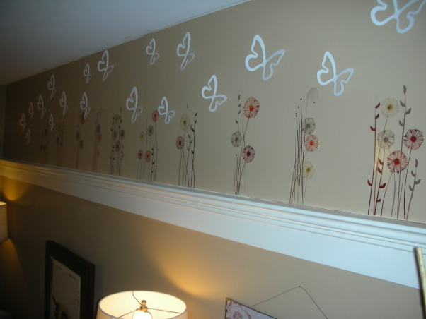 18 Year Old's Room, I redid my room this year when I turned 18. I wanted something that was simpler and more mature- hopefully I achieve that look!, wall pop decorations                      flowers & butterflies both from Target               , Girls' Rooms Design