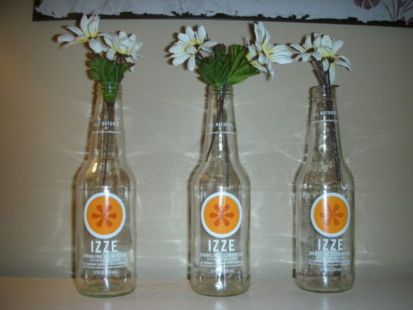 18 Year Old's Room, I redid my room this year when I turned 18. I wanted something that was simpler and more mature- hopefully I achieve that look!, I made flower vases out of old Izze soda bottles     , Girls' Rooms Design