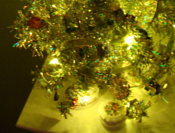 Vintage Jewelry Tree, I have used vintage jewelry to decorate a tiny tree on my bedroom mantle.  Small jewelry boxes are placed like presents at the base of the tree., Jewelry boxes used as presents under the jewelry tree., Holidays Design