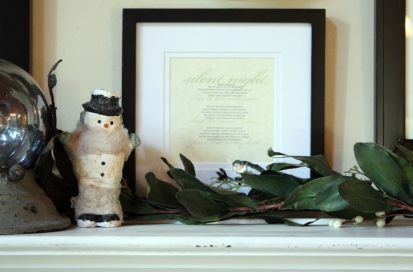 Christmas from my sweet Savannah 2010, simple was the theme this year! , shelf with lyrics to silent night framed., Holidays Design