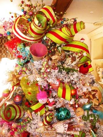 Simple Holiday Splender, The new flocked tree   , Holidays Design