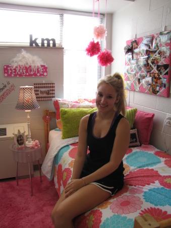 Pretty in Pink, WKU dorm space., Dorm Rooms Design
