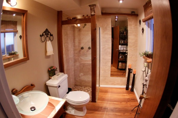 my small bath, rustic and modern, after, Bathrooms