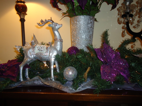 Silver and Purple Christmas, I wanted a change this Christmas but on Budget. So I decided to change just a few things on my Christmas decor, Holidays Design