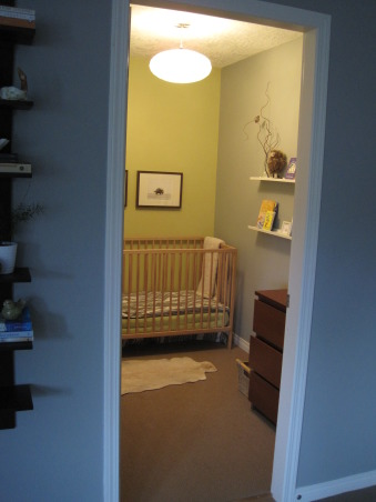 Closet Turned Nursery, We needed an extra bedroom so we transformed our master walk in closet to a temp nursery., Nurseries Design