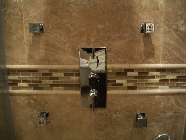 complete bathroom makeover, I purchased 95% of my fixtures online. I went directly to the manufacturers' websites to get the best prices.inspiration from Candice Olson devine design bathroom makeovers,, thermostatic control system  , Bathrooms Design