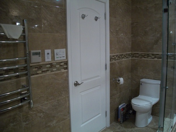 complete bathroom makeover, I purchased 95% of my fixtures online. I went directly to the manufacturers' websites to get the best prices.inspiration from Candice Olson devine design bathroom makeovers,, solid core doors.   , Bathrooms Design