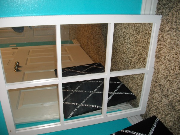 """Halfway there"" blue zebra room, This is my teens room. We're not done yet but we were just asking for any suggestions you might have to fill the room we are going for a tiffany and co. kind of look so please comment with any suggestions., This is a mirror that i have i can't decide where to hang it.. maybe above the bed? , Girls' Rooms Design"