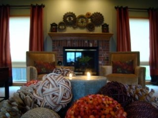 Warm and Cozy in Snowy Nebraska, This hard-working family room is home to two adults, three active kids and a very friendly yellow lab. The family lived with this sad space for 2-3 years before calling Fluff Your Stuff Interior Design in Omaha to help them create a space they love!, Living Spaces
