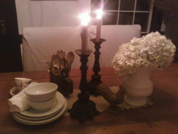 in progress.  farmhouse chic., country dining room, Love it, Dining Rooms Design