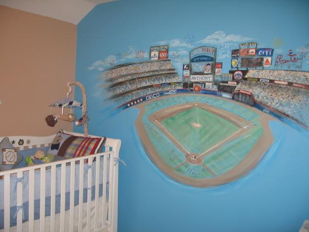 Let's go Mets!, Custom Met's mural, Take me ot to the ball game..., Boys' Rooms Design