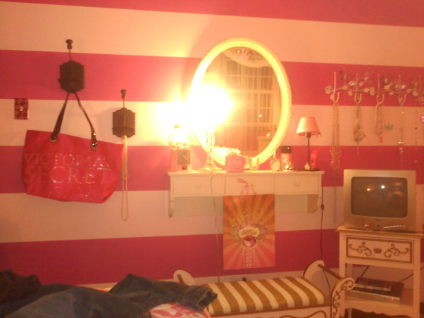Victoria Secret PINK, I decided to do my room victoria secrets because I LUV the color pink & my daughter grew out of her pink bedroom & I couldn't handle the thought of not having a pink bedroom anymore! , Bedrooms Design