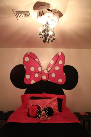 "Minnie Room, This is my almost 3 year olds ""Big Girl Room""  She loves Mickey Mouse and all his friends.  We went with minnie since she's pink and girly. ;), Girls' Rooms Design"