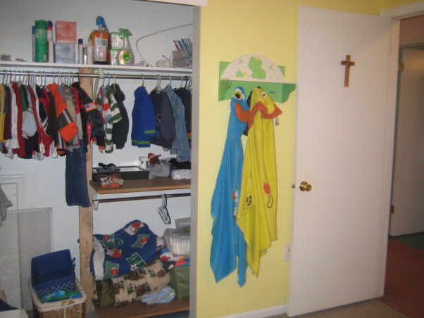 Brothers share Bunks, The boys are sharing now and I may want to move them across the hall to the bigger bedroom....Need input., The closet is large enough for 2 growing boys. , Boys' Rooms Design