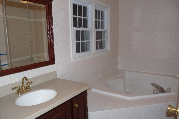 Master Bath, Master Bath remodel, enormous corner jacuzzi we never used -by the time you could get enough water into it the water was turning cold., Bathrooms