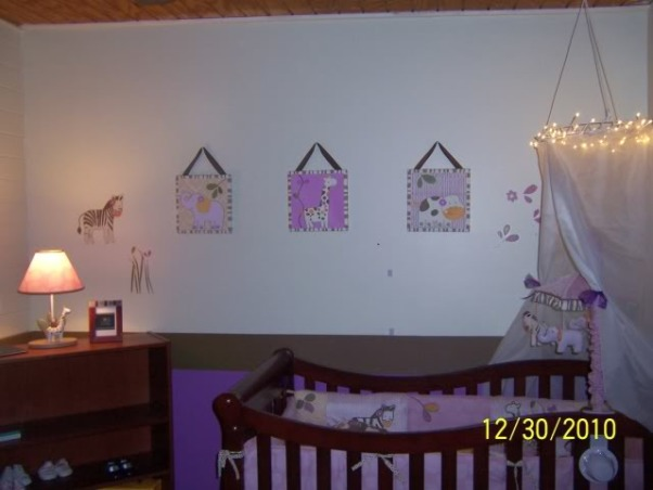 A NON-PINK baby girl nursery, My daughter's nursery. I had a difficult time finding anything I liked for a little girl that was not pink (or yellow). Ultimately, I was happy with the way it turned out and the colors I chose., Nurseries Design