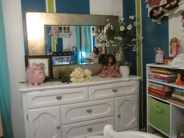 Tessa's new room, new updated and redecorated bedroom for my 10 year old big girl, big girl mirror  , Girls' Rooms Design