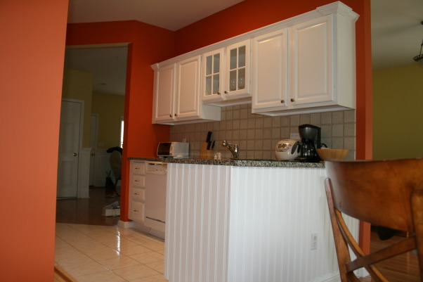 brighten up for my SM kitchen, after, install beadboard and top molding     , Kitchens Design